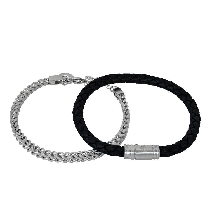 armbandset silver svart