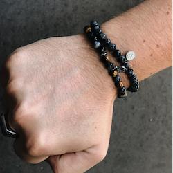 Armbandsset, beads, jord/grå
