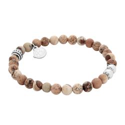 Beadsarmband, Jaspis beige