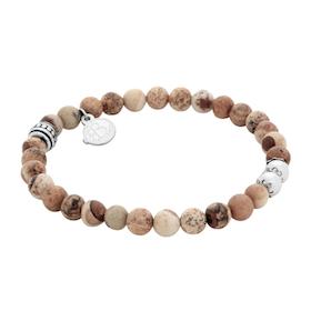 Beads bracelet, Jasper, beige