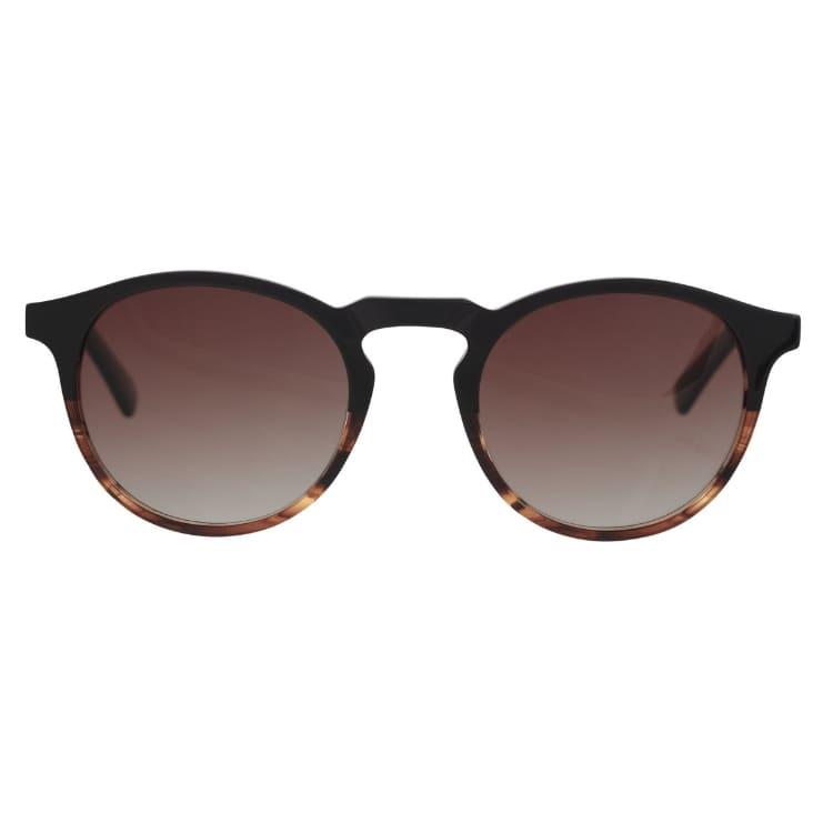Solglasögon acetat Brun rund båge