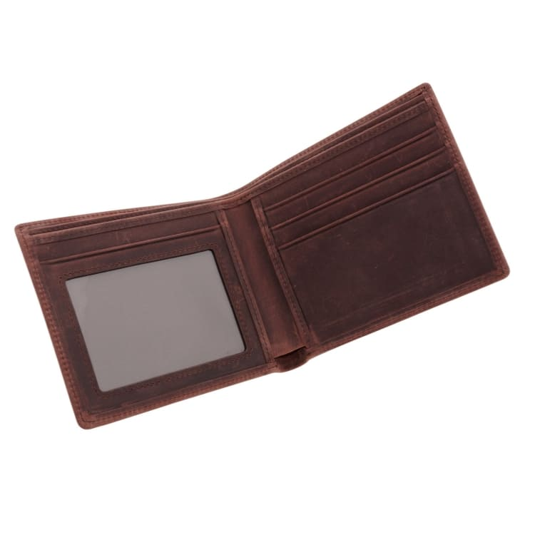 Wallet, leather, brown