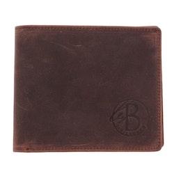 Plånbok, läder, brun