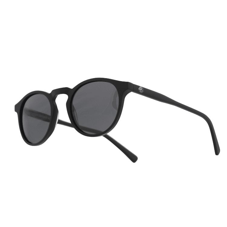 Solglasögon mattsvart rund båge