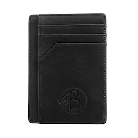 Card holder, leather, black