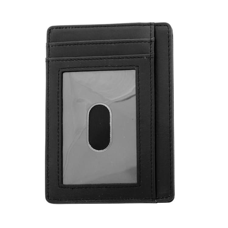Card holder, leather, black