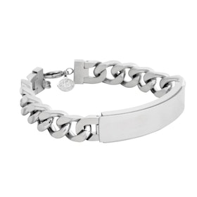 Steel bracelet, engavable, silver
