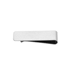 Money clip, engravable, silver