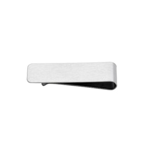 Money clip, engravable, silver