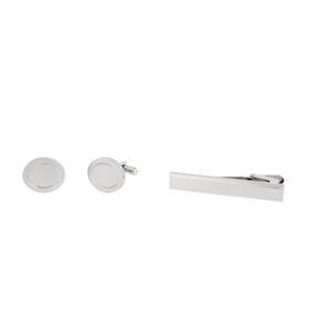 Manschettknappar/Slipsnål, Silver