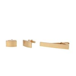 Cuff links/Tie pin, set, gold