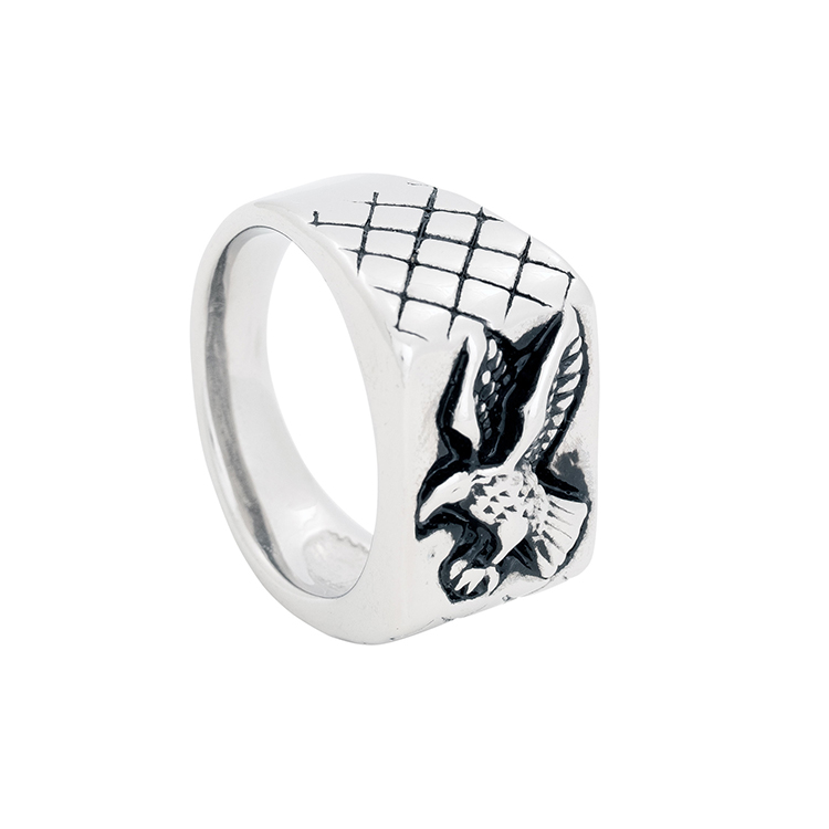 Ring, eagle, silver