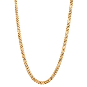 Necklace, steel chain, gold