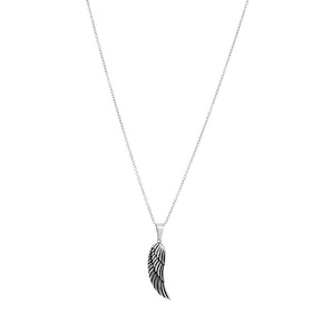 Necklace, wing, silver