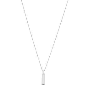 Halsband, graverbart, stål/silver