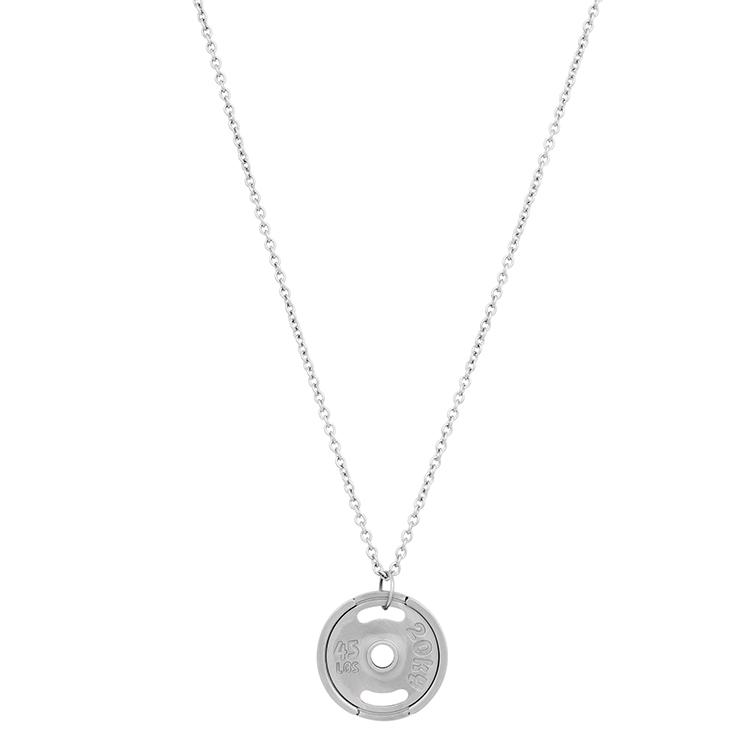 Halsband, viktplatta, stål/silver