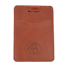 Slim card holder, cognac / leather
