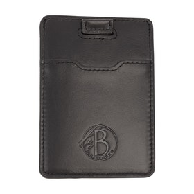 Slim card holder, black leather