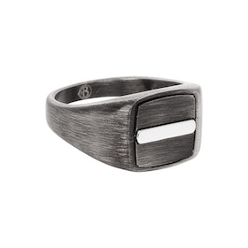 Signet ring, Gun metal, black