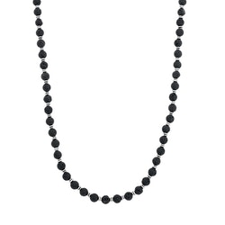 Bead necklace, lava stone
