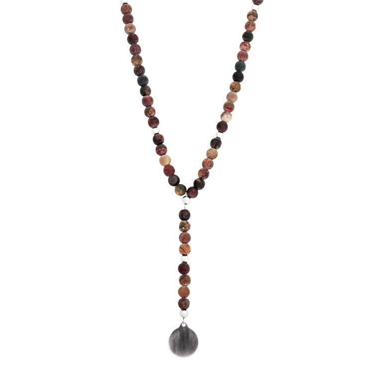 Halsband, beads, brunt