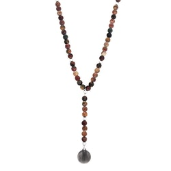 Beaded necklace, brown