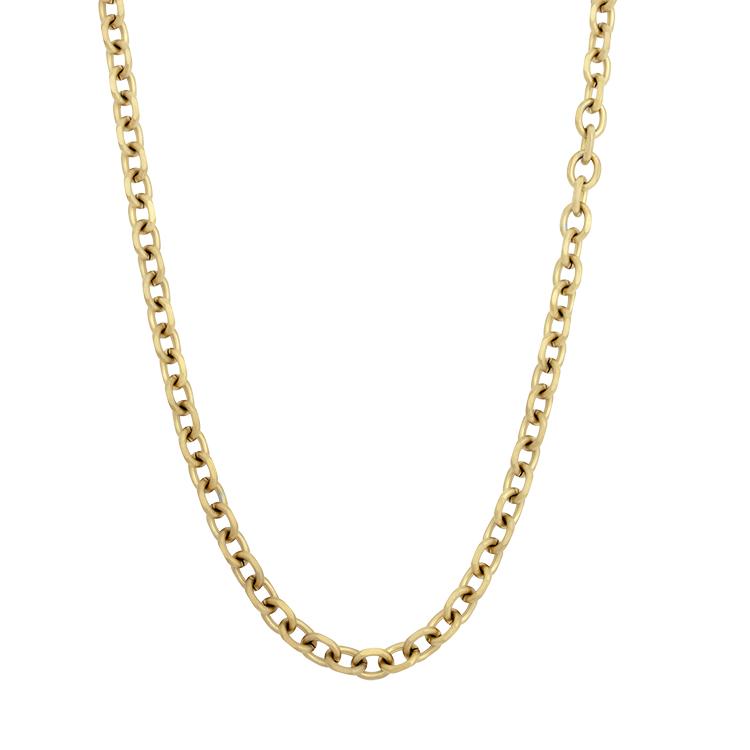 Steel chain, link, silver