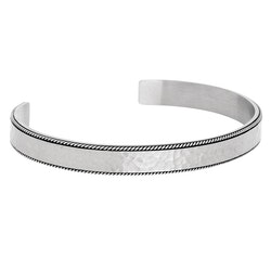 Bracelet cuff, hammered, matt steel