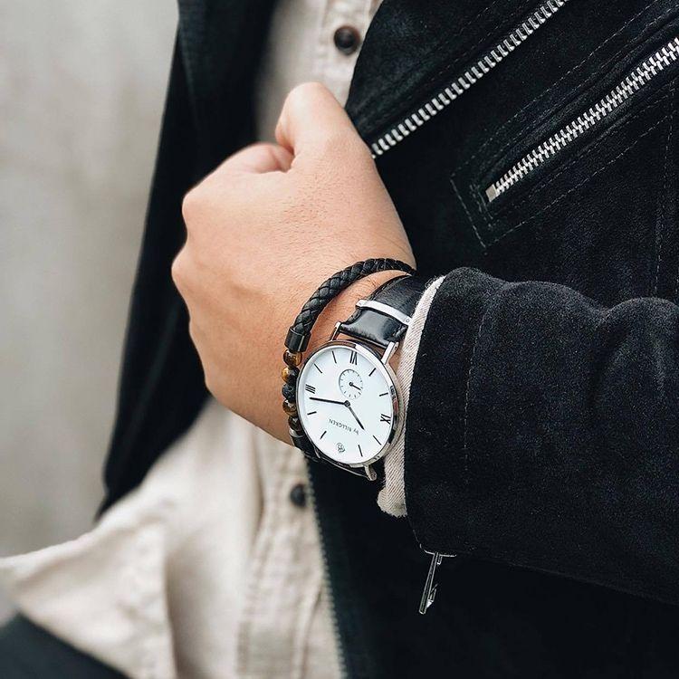 Gustaf watch, white/black