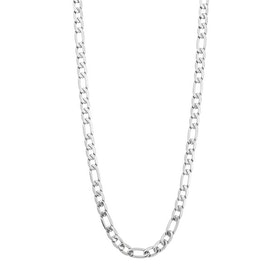 Necklace, figaro, silver