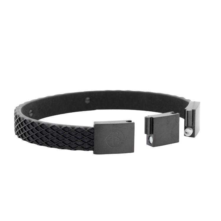 Bracelet, rubber, black