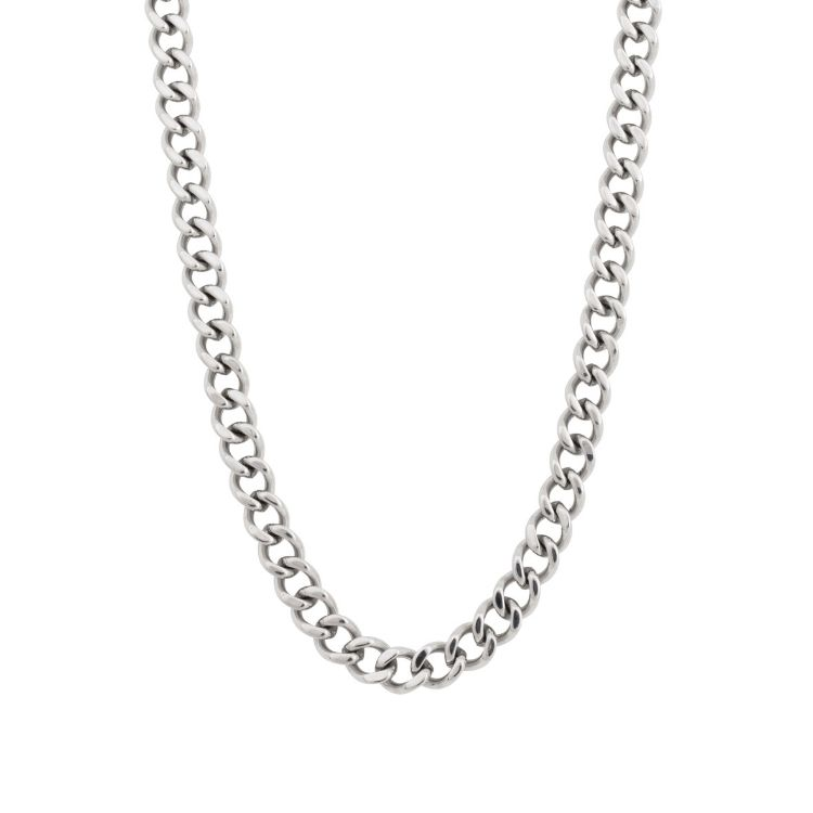 Necklace, armor chain, silver