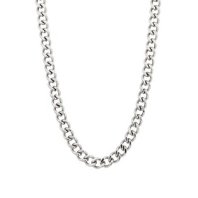 Halsband, pansarkedja, silver