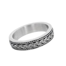 Ring, braid, silver