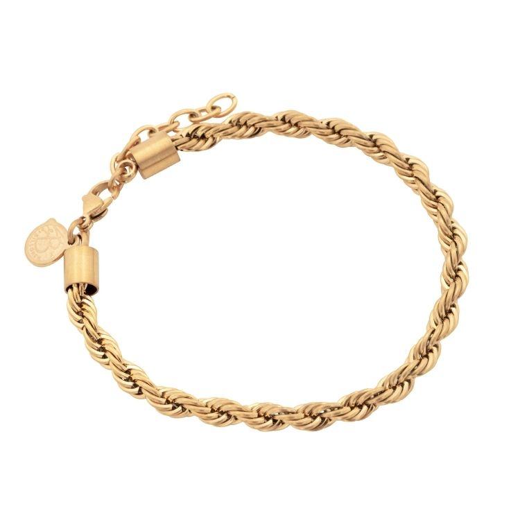 Steel bracelet, Twisted, silver