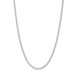 Necklace, slim, silver
