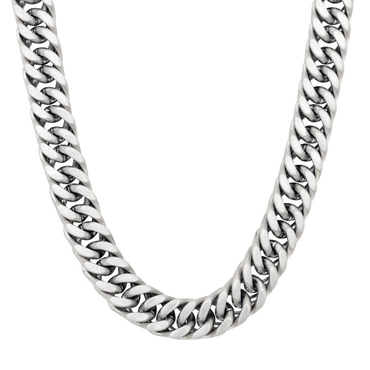 Chain necklace, G, steel