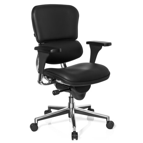 Ergonomisk kontorsstol, Madalyn Series Base - Läder