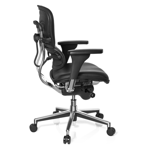 Ergonomisk kontorsstol, Madalyn Series Base - Läder