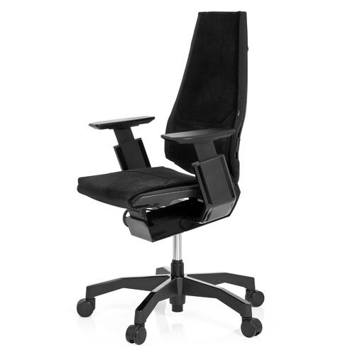 Ergonomisk skrivbordsstol, Minna Black Tygklädsel