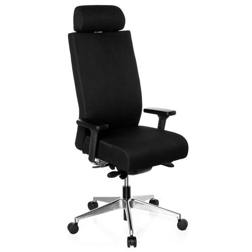 Ergonomisk skrivbordsstol, Noriko XXL 150 kg - Svart