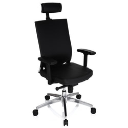 Ergonomisk kontorsstol, Roseline Max High - Läder