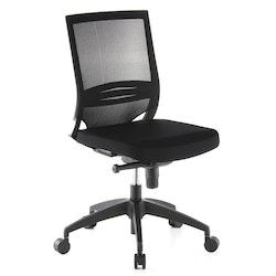 Skrivbordsstol, Roseline - Svart utan armstöd