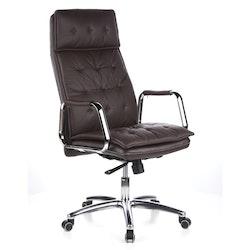 Konferensstol/skrivbordsstol, Gentle High - Nappaläder
