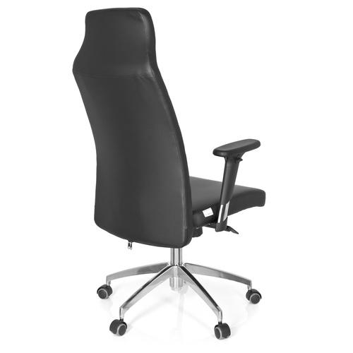 Kontorsstol, Estelle - Svart konstläder & aluminium