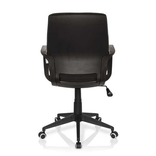 Skrivbordsstol, Lineer - Svart skal & svart klädsel