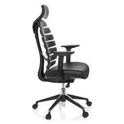 Skrivbordsstol, Nova Pro - Svart skinn