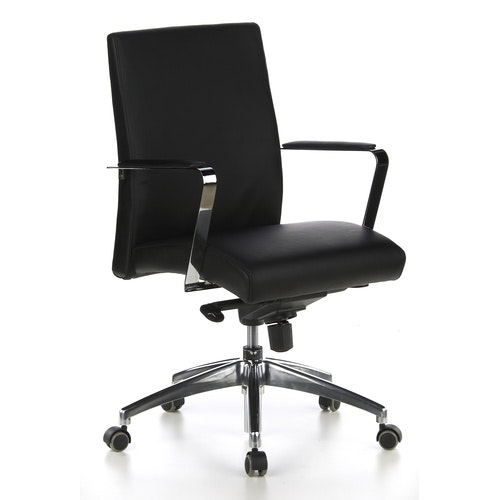 Skrivbordsstol, Erwin Low - Läder i flera färger