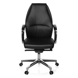 Skrivbordsstol, Rosendo - Svart skinn