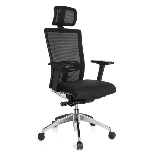 Skrivbordsstol, Luxi tyg/nät med nackstöd
